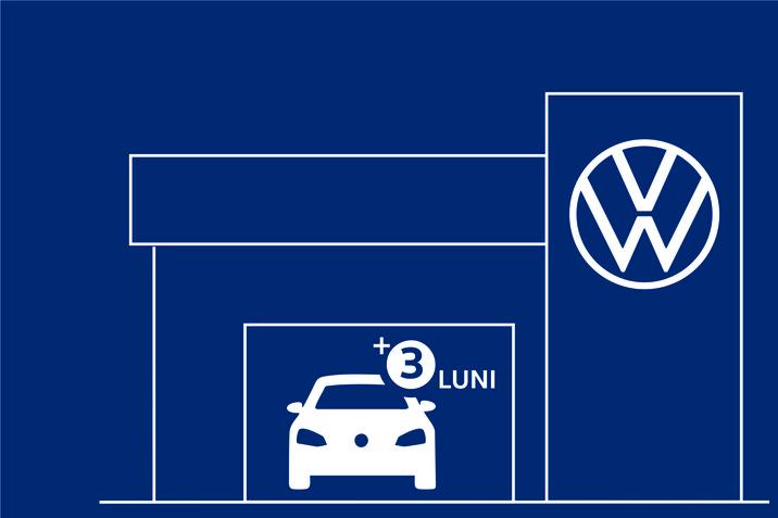 Volkswagen prelungește cu trei luni garanția  de automobil